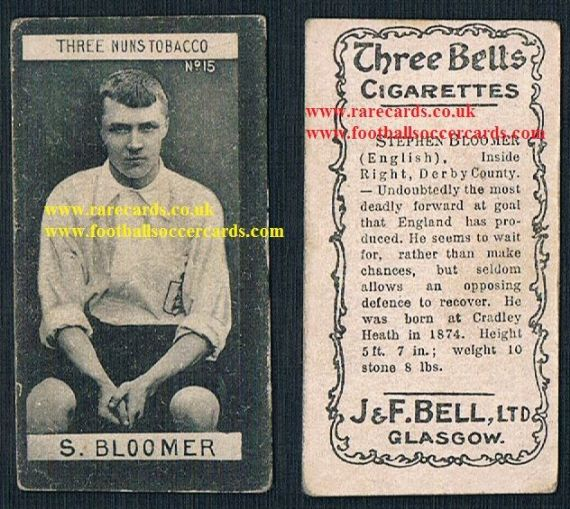 1901 Steve Bloomer 15 Bell Three Nuns Bells